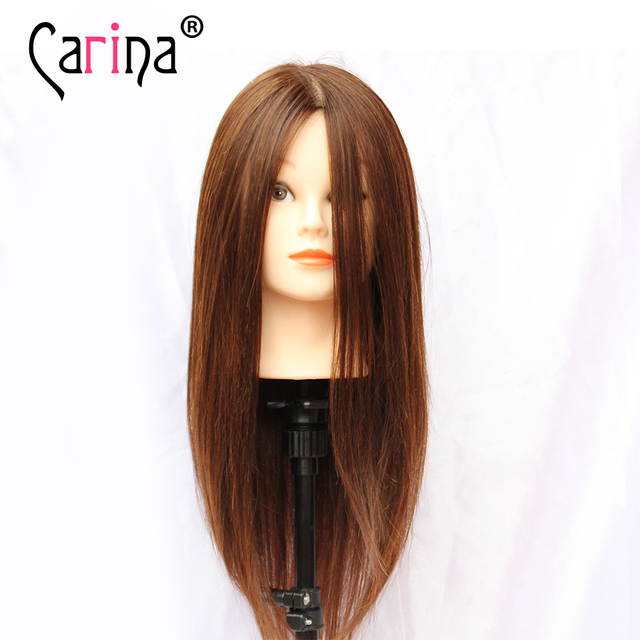 Practice Cutting Hairdressing Training Mannequin Head With Hair Manikin Styling For 80 Human