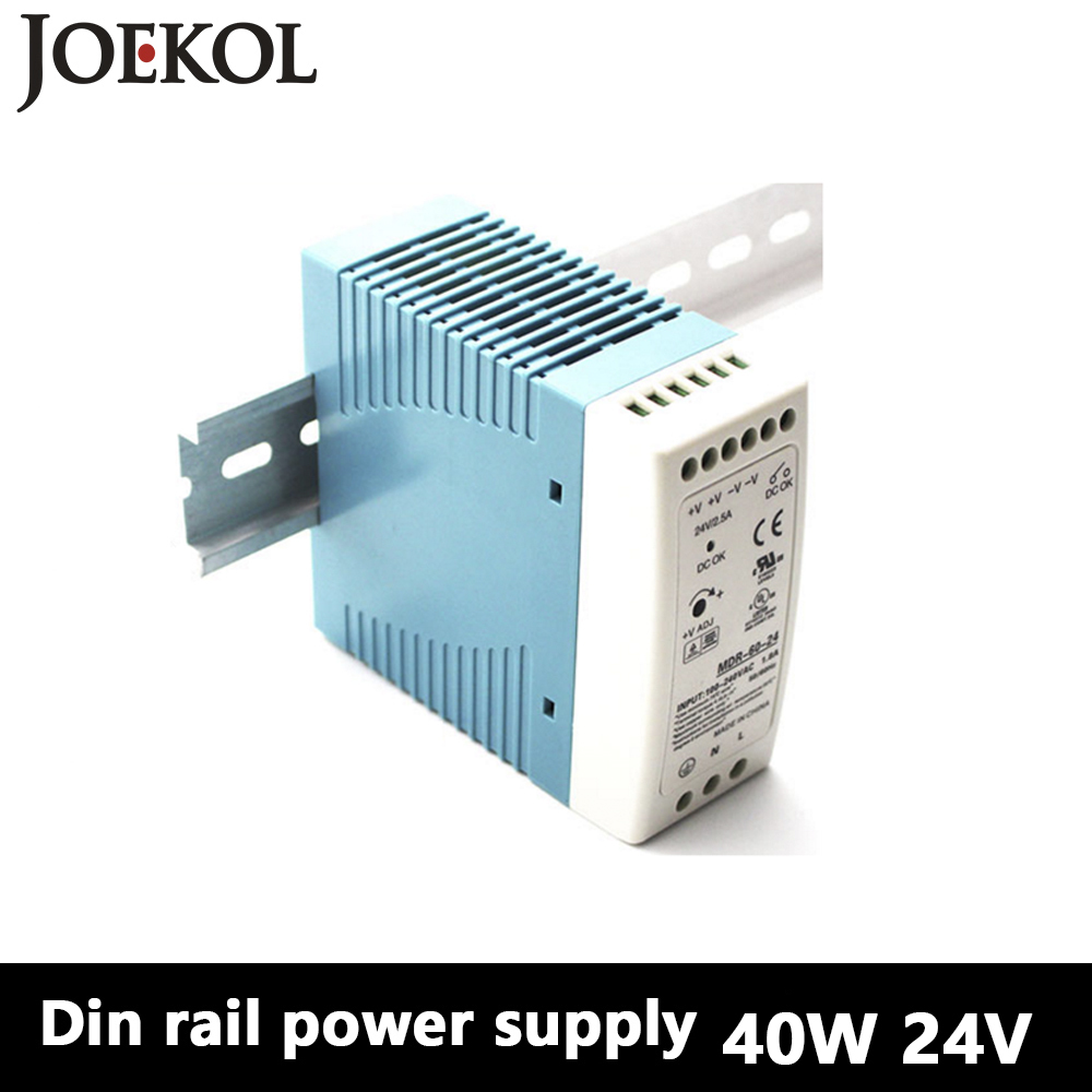 MDR-40 Din Rail Power Supply 40W 24V 1.7A,Switching Power Supply AC 110v/220v Transformer To DC 24v,ac dc converter dr 240 din rail power supply 240w 24v 10a switching power supply ac 110v 220v transformer to dc 24v ac dc converter