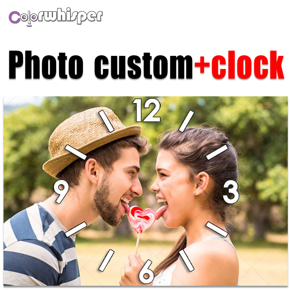 Photo custom+clockDiamond Painting Full Square/ Round 5D Picture Custom Private Personal Customization Clocks Cross Stitch 792Photo custom+clockDiamond Painting Full Square/ Round 5D Picture Custom Private Personal Customization Clocks Cross Stitch 792
