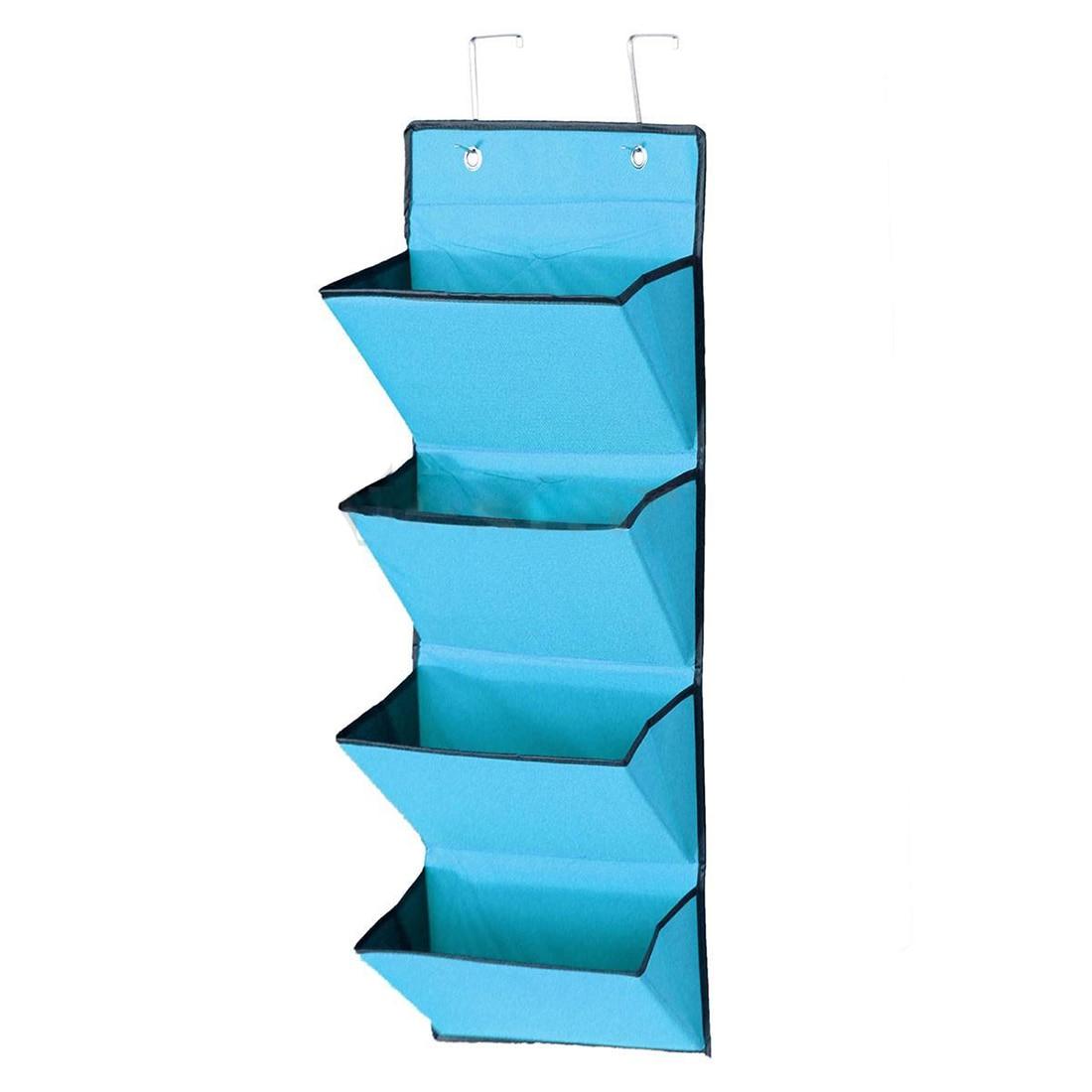 4 Tier Wall Door Hanging Organiser Storage Rack Bag Cloth Wardobe Shoe Pocket