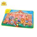 Tamanho grande 72X48 cm crianças brinquedos para crianças dos miúdos jogar puzzle tapetes tapete em desenvolvimento das crianças rastejando mat musical sons de animais