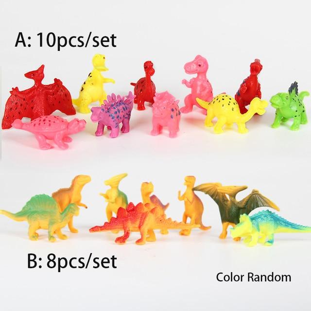 10 Pcsset Hot Dijual Lucu Aksi Angka Hewan Dinosaur Interaktif Lucu