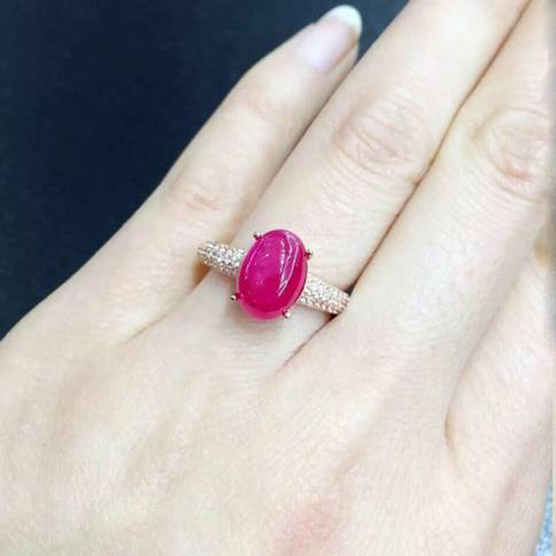 2017 Qi Xuan_Fashion Jewelry_Red Stone Simple Elegant Woman Rings_Rose Gold Color Fashion Red Rings_Manufacturer Directly Sales
