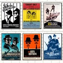 MX030 The Blues Brothers Retro Vintage película Dan Akroyd John Belushi cartel personalizado arte lienzo seda decoración de la habitación de impresión de pared