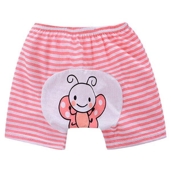 100% Wahr Roten Streifen Cartoon Baby Shorts Baby Pp Hosen Jungen Mädchen Kinder Baumwolle Unterwäsche