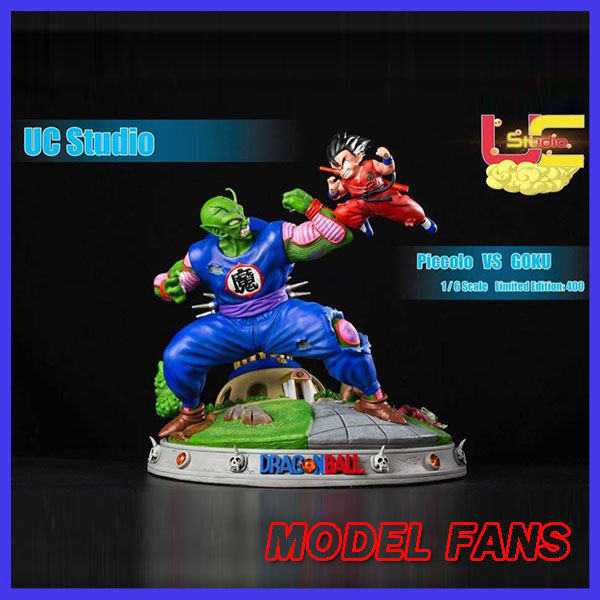 MODEL FANS IN-STOCK Dragon Ball Z UCS 35cm childhood Son Goku vs Piccolo gk resin statue figure toy for Collection model fans instock dragon ball gk vkh childhood goku vs geelong gk resin scene very rare action figure