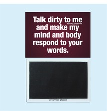 Talk dirty to me ... Adult sexy humorous quotations, magnetic refrigerator stickers, Gilf 30684