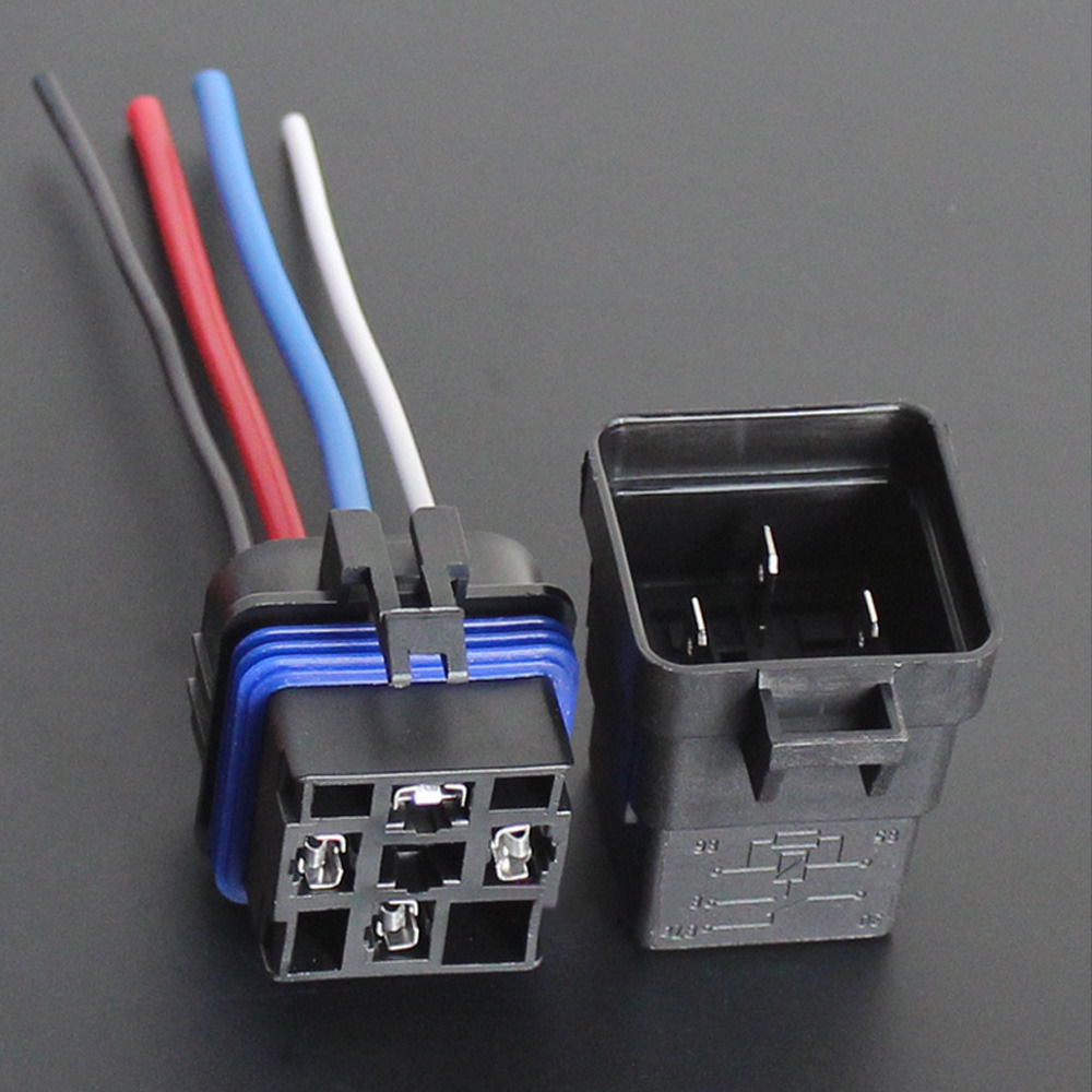 EE support Car Truck 12V 40A SPST Relay Socket Plug 4Pin 4 Wire