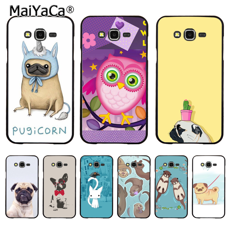 MaiYaCa Otters Holding Hands pug Amazing new arrival phone case cover for samsung J5 j1 j3 j7 note 3 note4 note5 case coque