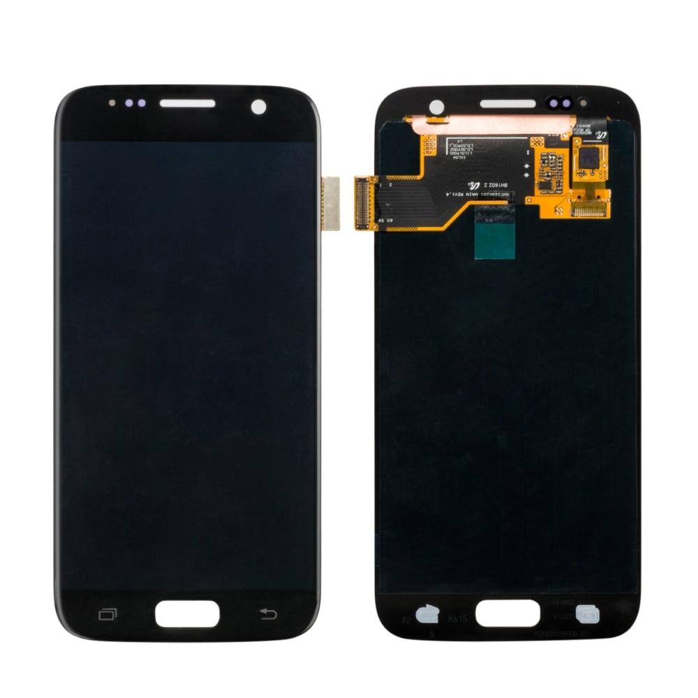 1 pièces S7 G930 LCD SUPER AMOLED 5.1 ''remplacement pour SAMSUNG Galaxy S7 G930f G930FD G930W8 ensemble d'affichage LCD sans cadre