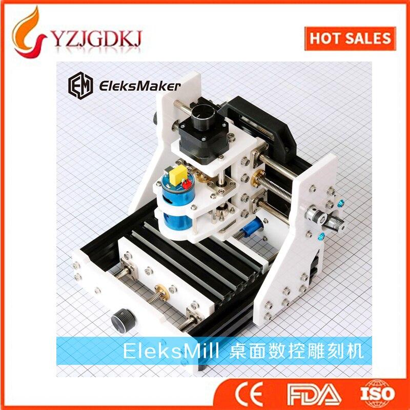 2016 EleksMill new 3-axis CNC Micro Mini Desktop CNC engraving machine  DIY kit suporte de celular para parabrisa