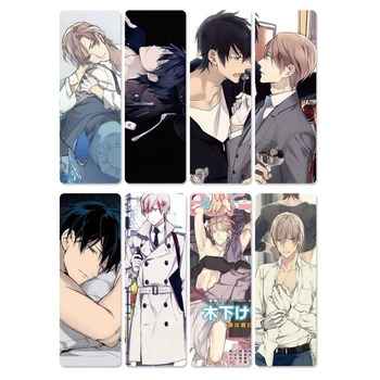 8pcs 10 count Anime Bookmarks Waterproof Transparent PVC Plastic Book Marks Cartoon Gift 1