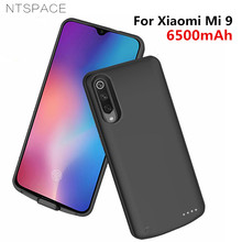 NTSPACE Backup Power Bank Case for Xiaomi Mi 9 Cases 6500mAh External Battery Charging Cover mi Charger
