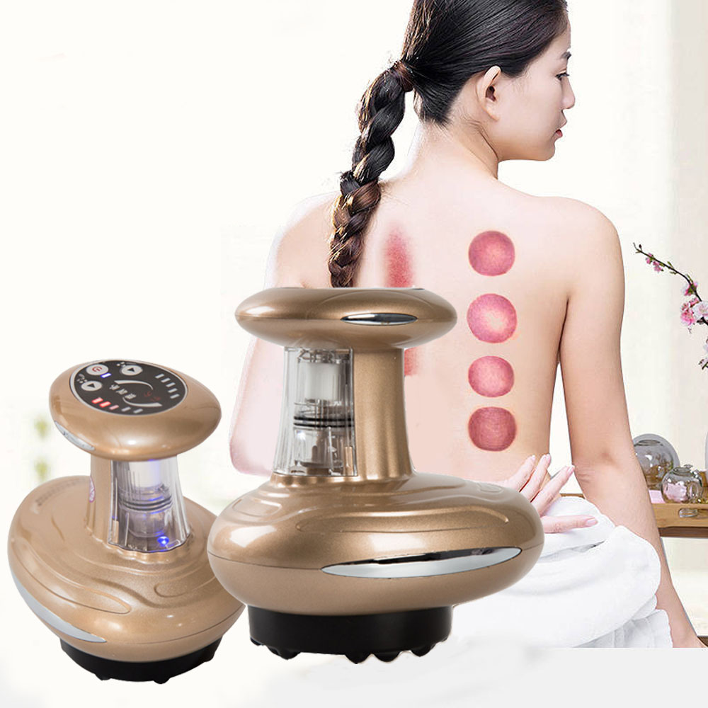 Upgrade Heating negative pressure magnetic wave therapy instrument body brush scraping suction dredge fever lymphatic drainage