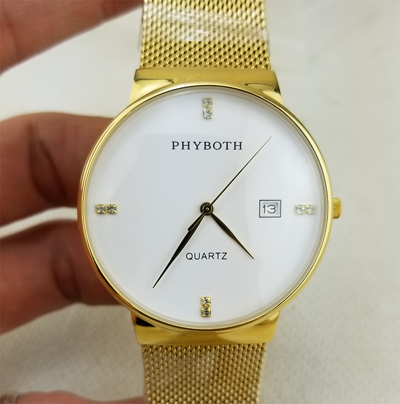 New woman s wrist watch Phyboth casual luxury watch Japanese quartz movement clock stainless steel watch