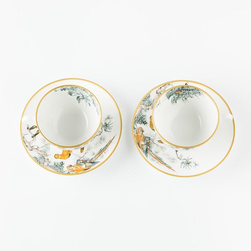Костяной фарфор Европейский послеобеденный чай креативный чайный набор чашка блюдо Потяните цветок, чашка с кофе блюдо Пномпень набор