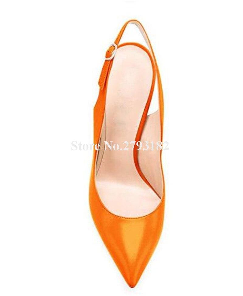 Фирменный дизайн; женские модные туфли лодочки с острым носком на шпильках; туфли лодочки на тонком каблуке с вырезами; цвет розовый, оранже... - 3