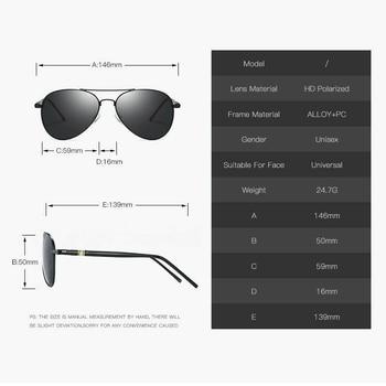 AORON Men Polarized Sunglasses Retro Classic Pilot Glasses Brand Goggoles Leisure UV400 Protection Metal Frame Oculos de sol 8