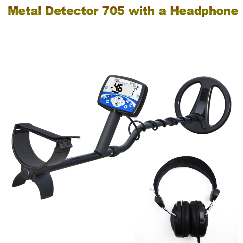 Underground Metal Detector 705 Gold Digger Treasure Hunter Finder Pinpointer Professional Gold Prospecting Mode LCD Display