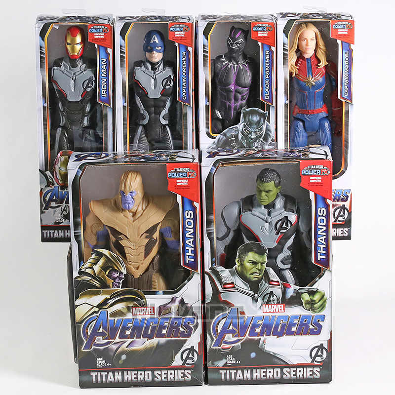 Avengers Endgame Thanos Hulk กัปตันอเมริกา Iron Man กัปตัน Marvel Black Panther Titan Hero Series Action Figure ของเล่น