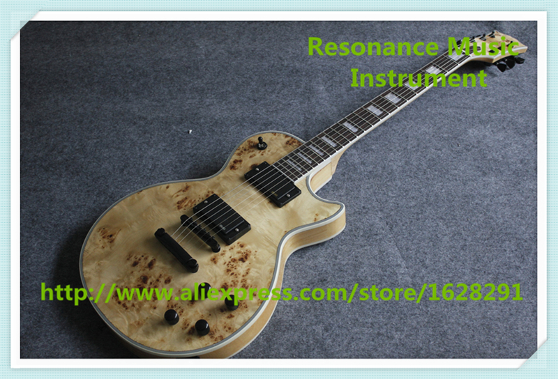 New Arrival Natural Wood Finish LP Custom Electric Guitars Left Handed Custom Available стоимость