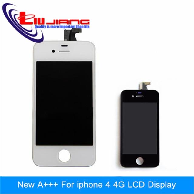 Оригинальное качество Дисплей Для Apple Iphone 4 4G 4S Сенсорный ЖК-Экран с Digitizer Ассамблеи Бесплатная доставка