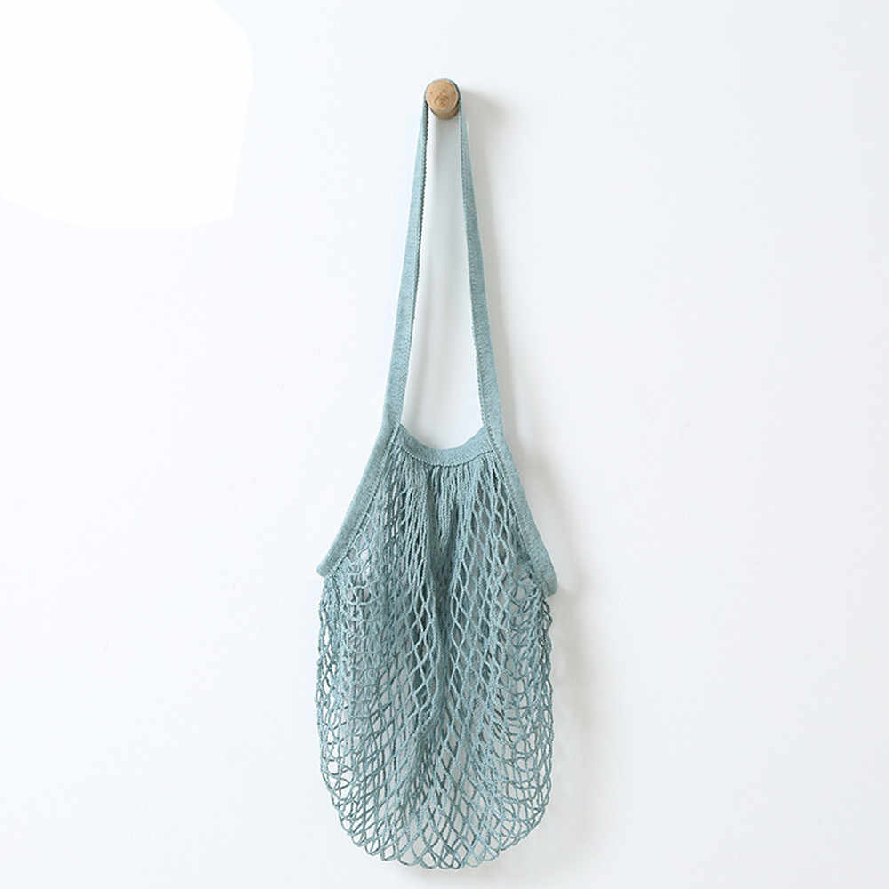 Mesh Shopping Bag Net Turtle Bag String Shopping Bag Breathable Reusable Hanging Kitchen Garbage Grocery Storage Packing Pouch