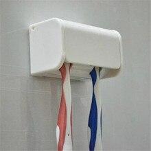 1 шт. белая пластиковая клейкая наклейка держатель для зубной щетки крючки Пылезащитная подставка для зубной щетки аксессуары для ванной комнаты PC878040