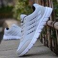 Nueva Primavera Verano de Los Hombres Zapatos Casuales Zapatos Planos chaussure homme de Corea Transpirable Air Mesh Mens Trainers Basket Zapatillas