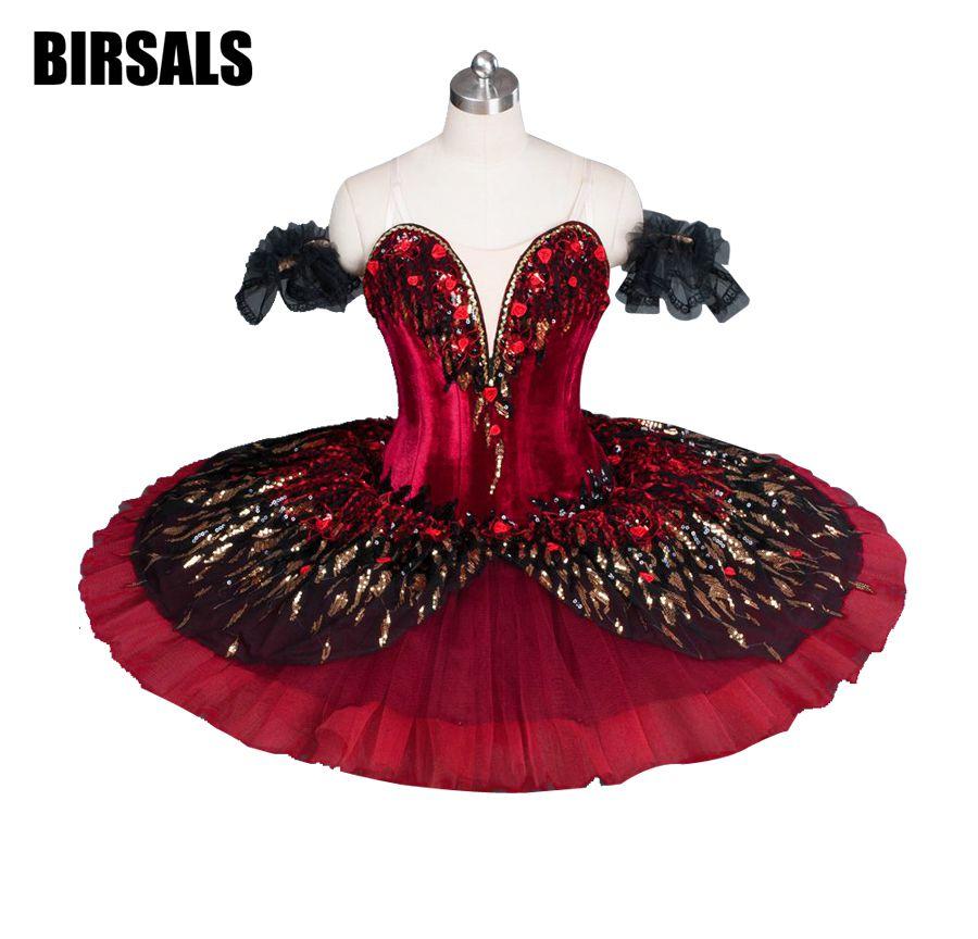 Красное пламя птица изменение конкурсной красные, черные птицы Щелкунчик Лебедь балерина пачка классические для взрослых и детей BT9045A