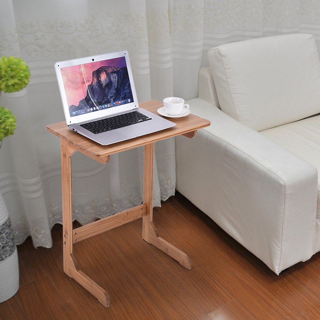 Компьютерный стол Бамбуковый стол для закусок диван кофейный стол прикроватный столик ноутбук стол стоячий стол подставка для ноутбука дропшиппинг