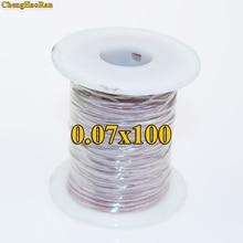 ChengHaoRan 0.07X100 Ipliklerini Hisse Litz tel çok telli bakır tel polyester ipek zarf zarf iplik tarafından satılan metre