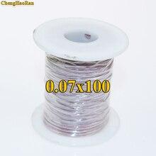 ChengHaoRan 0.07X100 brins partage fil Litz multi brins fil de cuivre polyester enveloppe de soie enveloppe fil vendu au mètre