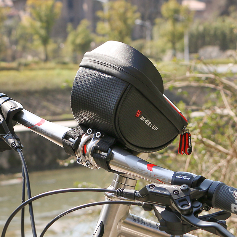 Waterproof MTB Road Bike Bicycle Front Bag Cycling Top Tube Frame WHEEL UP