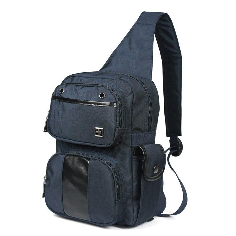 Swk1009 Blu Uomini Spalla Black Sling Moda E blue Borsa Una Uomo Piccolo Impermeabile Sacchetto Bag Donna Nero Casuale Petto 1af1Zq