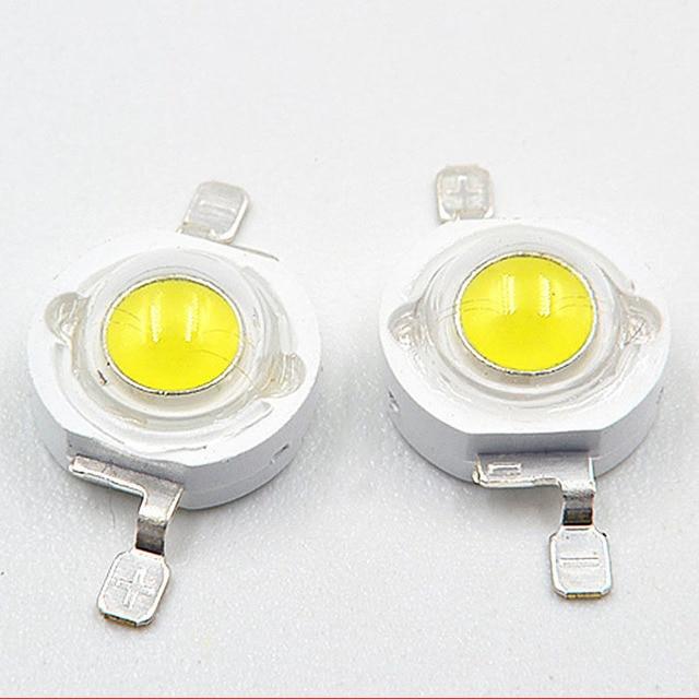200pcs 500pcs lot 1W 3W Watt White 1W 30mil Full Power flashlight DIY LED Lamp bead LED Light bulb LED Chip Carlight Downlight