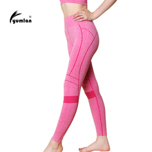 Yumlan À Séchage Rapide Formation de Femmes Sport Yoga Pantalon Leggings Élastique Gym Fitness Workout Courir Collants De Compression Pantalon