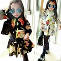 Infant Baby Girls Long Sleeve Coat Scrawl Jacket+Short Skirt Outfits 2-6Y