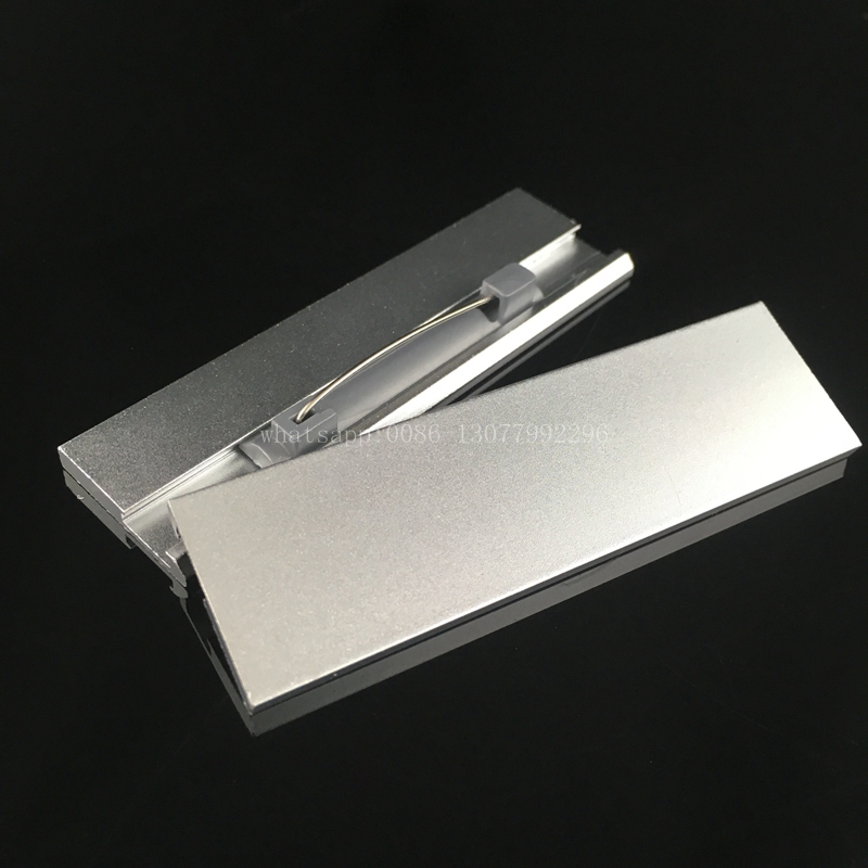 US $14 0 |10pcs 70*20mm blank 9 ( no print ) name badge with safety pin  hotel staff printing name tag holder with aluminum nameplate-in Badge  Holder &