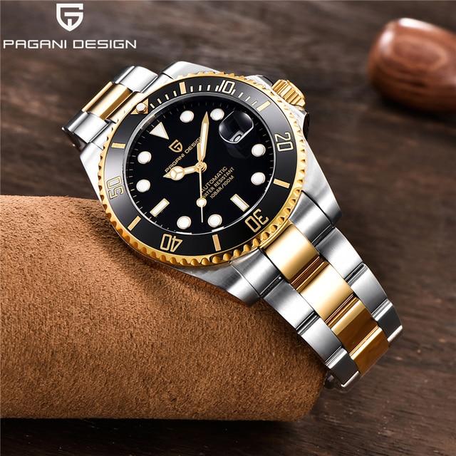 PAGANI DESIGN Top Luxury Men Watch Fashion Sport Waterproof Sapphire High Quality Automatic Mechanical Watches Relogio Masculino
