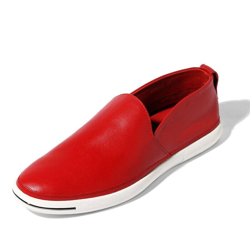 De Casuais Homens Calçados Negócios Dos Genuíno white Driving blue On Top Homem 6 red Lofers Slip Cores Verão Black green Branco Sapatos Couro Primavera Car xqAwzYvX