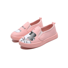 24f4b9b8 De moda de niñas de dibujos animados pintado a mano Casual niños linda  chica antideslizante zapatos planos zapatos de los niños .