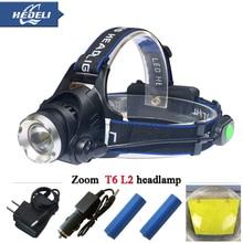 Zoom XM-L2 headlamp cree xml t6 Headlights 4 mode LED Head flashlight Lantern torch18650 led head light
