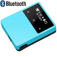 Mini Clip Metal MP3 Player 8GB Bluetooth Stereo Music Player Support Sport Pedometer FM Radio E