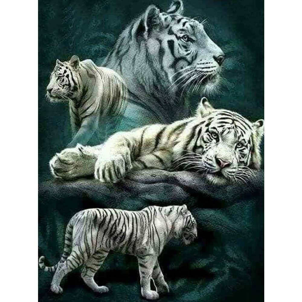 5D Diamond Painting Tiger Art Mosaic DIY Embroidery Cross Stitch Kit Full Square