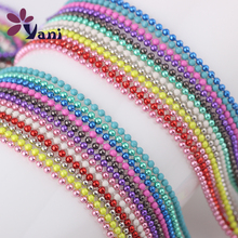 New Fashion Rainbow Beads Chain For Glass Memory Floating Locket  Long Statement Necklace
