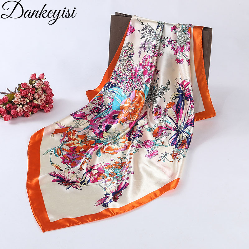 DANKEYISI 2018 New Spring Women Scarf Female Square Silk Scraf Shawl Ladies Scarves hija ...
