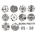 10pcs BORN PRETTY Christmas Santa Claus Snowflake Lace Design Nail Art Stamp Stamping Template Image Plates BP01-10