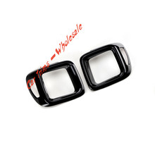 Black Explorer   Plastic  Tail  Rear  Light Lamp Cover Trim  2PCS   for Jeep Renegade  2015 2016