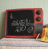 Antique Metal TV Shape Message Board Wall Mounted Iron Message Board for Cafe Bar Hotel Store Shop Office Home Decorative Crafts